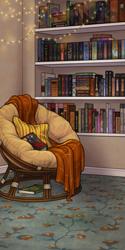 Cozy Book Pile