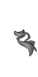 Gray Spectral Scarf